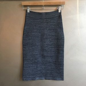 BCBG grey marl High waist midi pencil skirt